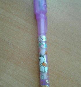 Ручка с невидемым стержнем, ультро фиолет.
