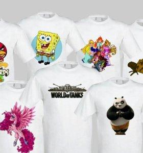Печать на кружках,футболках.