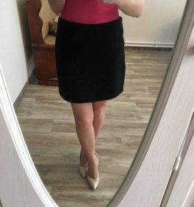 Тёплая юбочка из сукна