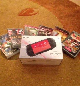Продаю Sony PSP в ОТЛИЧНОМ состоянии + 6 игр.