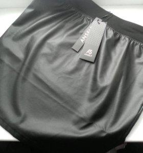 Новая юбка из кожзама