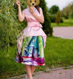 Костюм ( юбка и блузка )