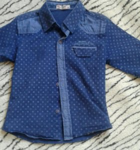 Фирменная рубашка раз. 98-104