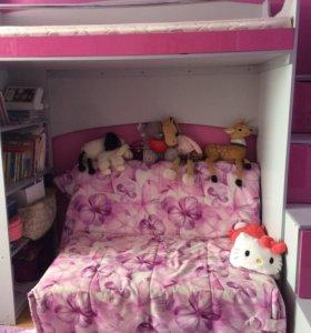 Кровать двухъярусная + матрас