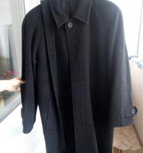Мужское пальто, темно серое осень