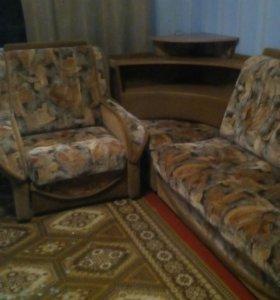 Диван с 2 кресла одно раскладывается