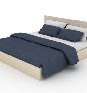 Кровать с ортопедическим матрасом в комплекте