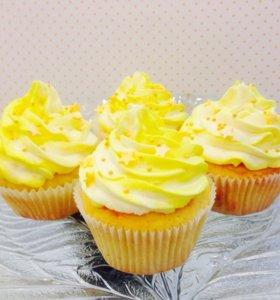 Капкейки Лимонные с кремчиз