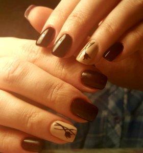 Наращивание ногтей гелем на формах или типсах