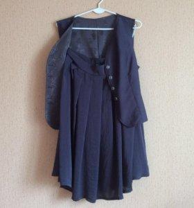 Жилетка + юбка, костюм
