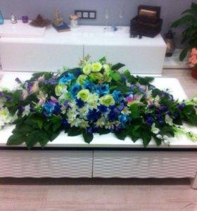 Украшения свадебные(Цветочная композиция и лианы)
