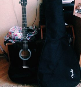 Гитара Fender акустика + фирменный чехол