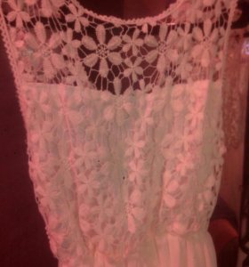Платье в пол, кружево