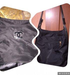 Сумка-рюкзачок, можно носить и так и так