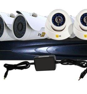 AHD комплект видеонаблюдения 4 канальный унив