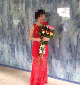 Платье в пол, размер s
