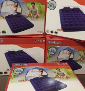 Матрас надувной двухспальный с подушками и насосом