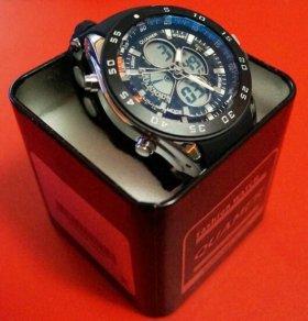 Стильные надежные мужские часы Quamer + 2 пoдapкa