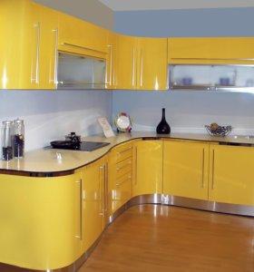 Кухонный гарнитур Бежевый глянец