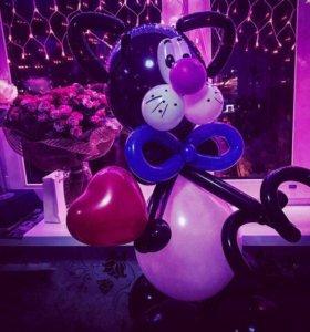 Фигуры и цветы из шариков для праздника