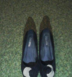 Туфли черные(замш).