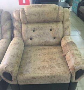 Угловой диван с креслом пуф в подарок