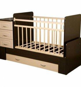 Кровать детская с люлькой