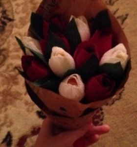 цветочки своими руками🌺🌷🌸🌹💐