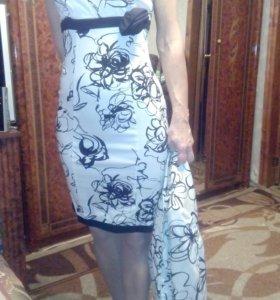 Пиджак с платьем 42 размер