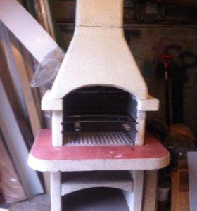 Печь для приготовления барбекю