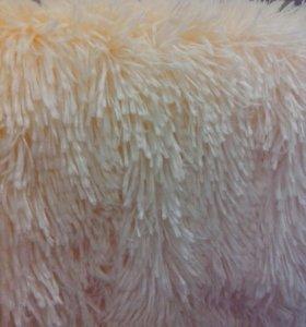 Персиковые меховые пушистые пледы с длинным ворсом