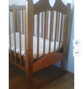 Детская кроватка+ матрас какосовый