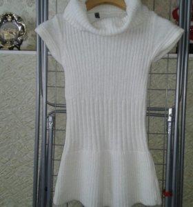 Платье вязанное для девочки 128+