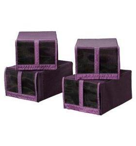Коробка для обуви СКУББ, Икеа, 8 шт., фиолет