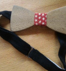 Бабочка галстук деревянная