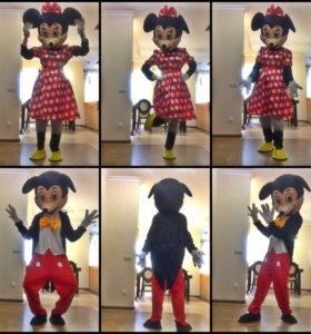 Новые ростовые куклы Микки и Минни Мауса