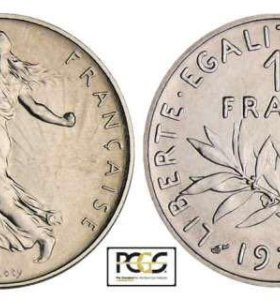1 франк , Франция