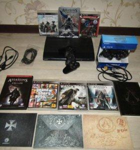 PS3super slim 500gb 25лиц.игр
