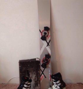 Сноуборд, крепление и ботинки