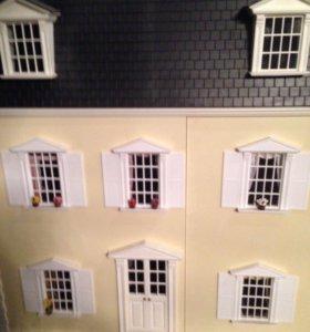 Домик для кукол 70x65            3 этажа с мебелью
