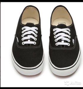 Кеды Vans authentic black white 36-45