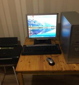 Компьютер в сборе, в подарок МФУ