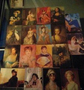 Календари коллекционные 91-92гг
