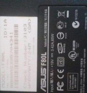 Ноутбук ASUS F80L в рабочем состоянии