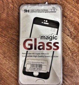 Стекло чёрное для IPhone 5/5s