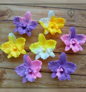 Мыло ручной работы орхидеи