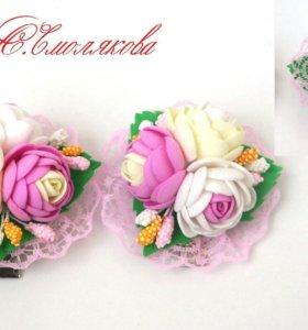 Цветочные полянки из фоамирана