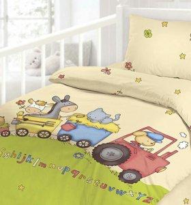 Комплект постельного б. в кроватку Облачко (новый)