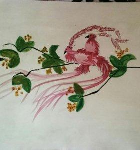 """Картина """"Птицы на ветке"""""""