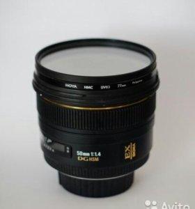 Объектив Сигма 50 мм, 1,4. портретник для Никон